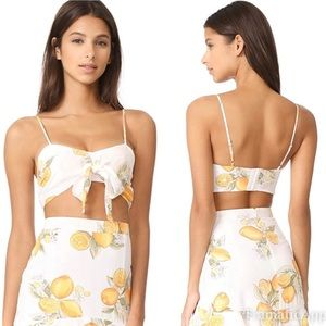 For Love And Lemons Limonada Crop Top Size XS NWT